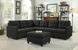 Sectional Sofa Set Modular Piece Furniture, Easy to Assemble