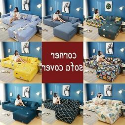 Sofa Covers 1/2/3/4 Seat For L-Shape Sectional Stretch Elast