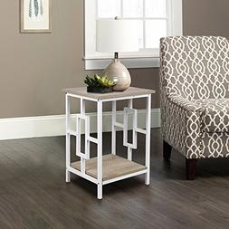 GIA Side End Table - Ash Color - White Frame - Easy Assemble