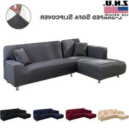 Stretch Sectional Couch Covers L-Shaped Sofa Covers Softness