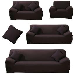 Stretch Sofa Covers Couch Slipcover Fabric Protector For 1/2