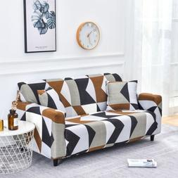 String printed sofa covers elastic stretch slipcover section